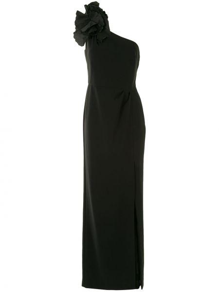 Платье с разрезом - черное Marchesa Notte