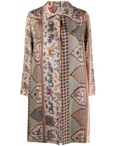Однобортное пальто классическое с воротником на пуговицах Pierre-louis Mascia
