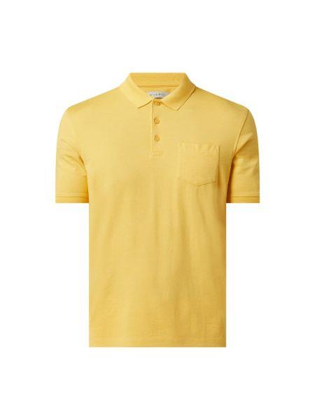 Żółty t-shirt bawełniany Bugatti