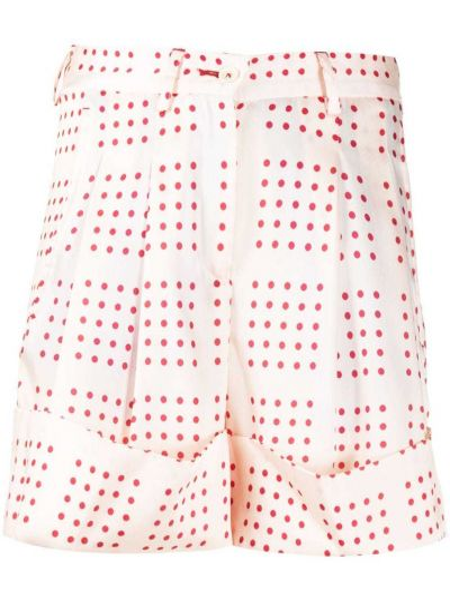 Розовые хлопковые шорты на пуговицах Jejia