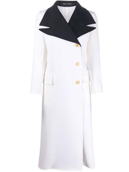 Długi płaszcz z kieszeniami zapinane na guziki Proenza Schouler
