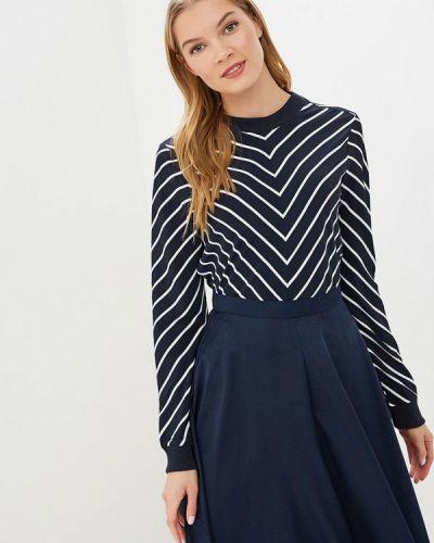Блузка с длинным рукавом синяя весенний Sela