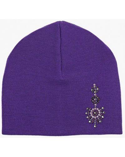 Фиолетовая шапка осенняя Check Ya Head