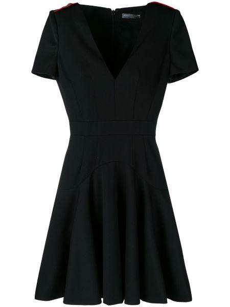 Платье мини с V-образным вырезом на молнии Alexander Mcqueen