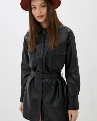 Черное зимнее платье Softy