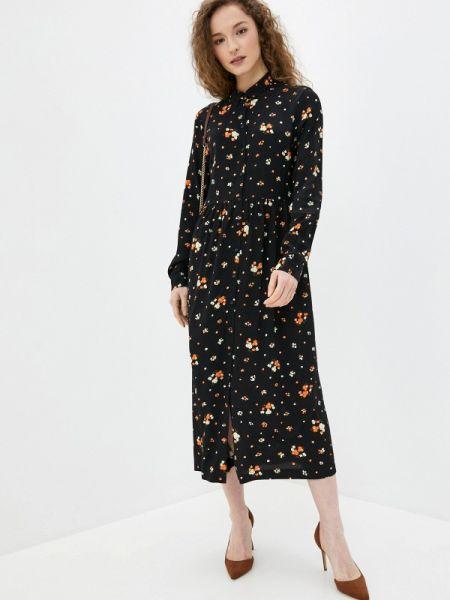 Платье платье-рубашка черное Ichi