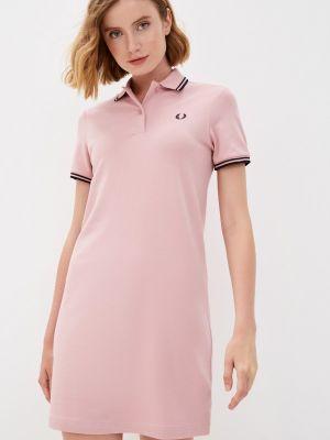 Розовое платье осеннее Fred Perry