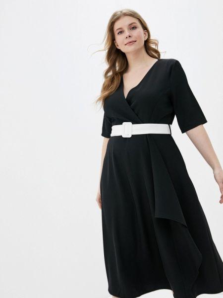 Повседневное платье черное весеннее Kitana By Rinascimento