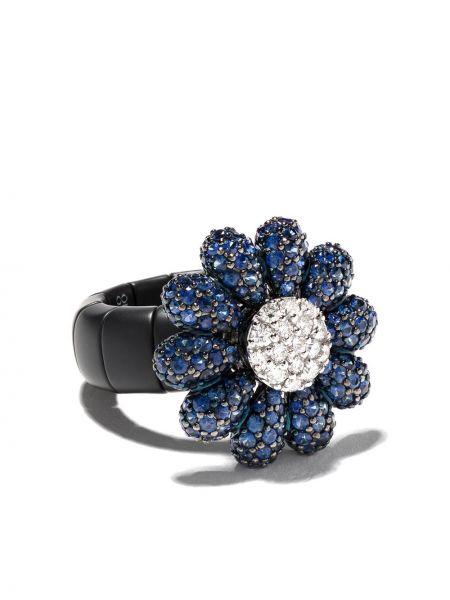 Niebieski złoty pierścionek szafir Roberto Demeglio