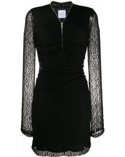 Платье макси с длинными рукавами - черное Gaelle Bonheur