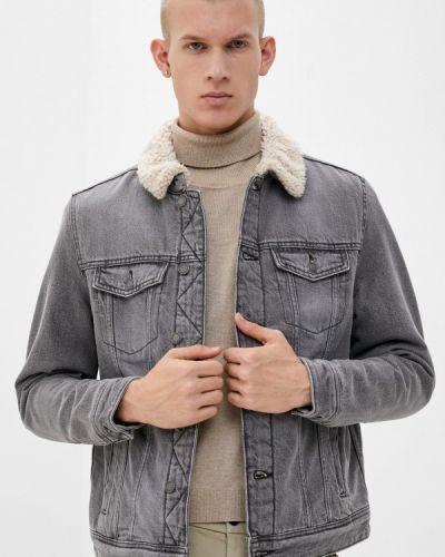 Серая джинсовая куртка Springfield