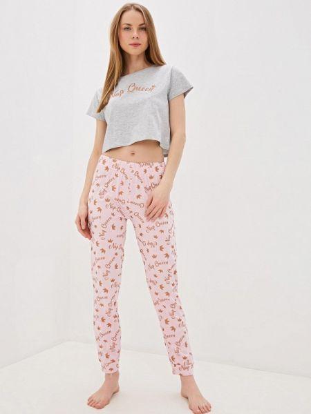 Пижама серая розовый Brave Soul