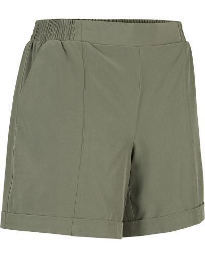 Зеленые свободные спортивные брюки на резинке Bonprix