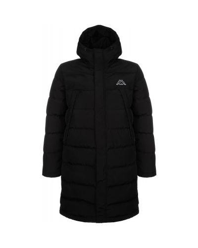 Черная утепленная пуховая длинная куртка Kappa