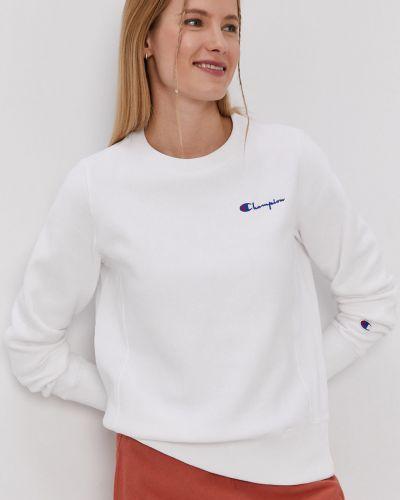 Biała bluza długa z kapturem z długimi rękawami Champion