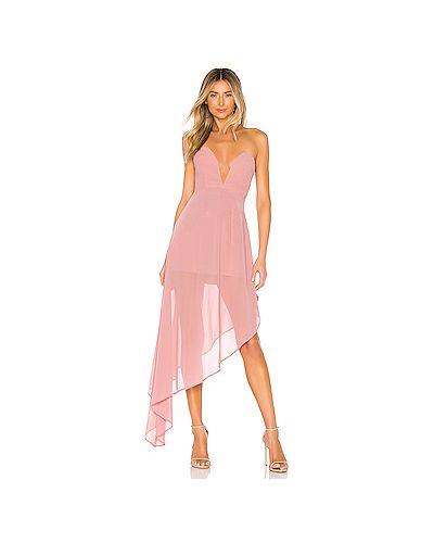 Вечернее платье розовое на молнии Majorelle