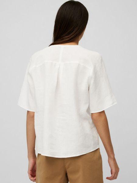 Белая блузка с короткими рукавами Marc O'polo