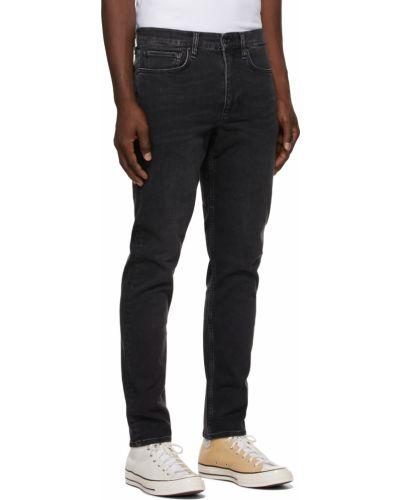 Mom jeans bawełniane - czarne Rag & Bone