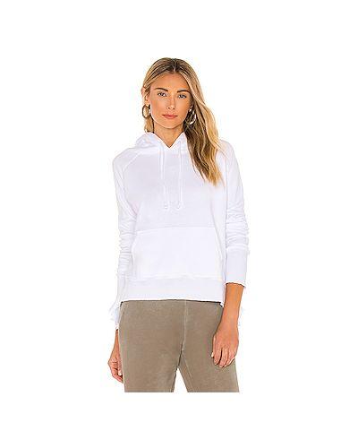 Белый махровый свитер с капюшоном с завязками Frank & Eileen