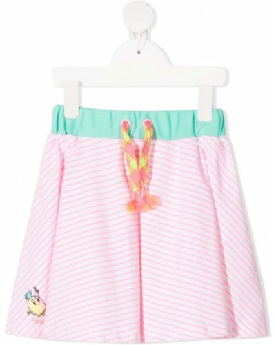 Różowa spódnica ołówkowa w paski bawełniana Billieblush