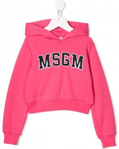 Толстовка с капюшоном розовый Msgm Kids