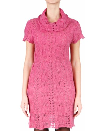 Розовое платье из мохера John Galliano