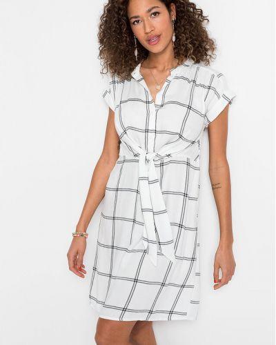 Платье рубашка - белое Bonprix
