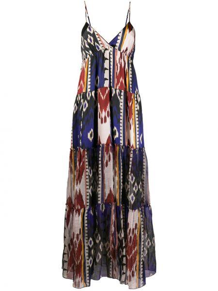 Sukienka z jedwabiu z dekoltem w serek Forte Forte