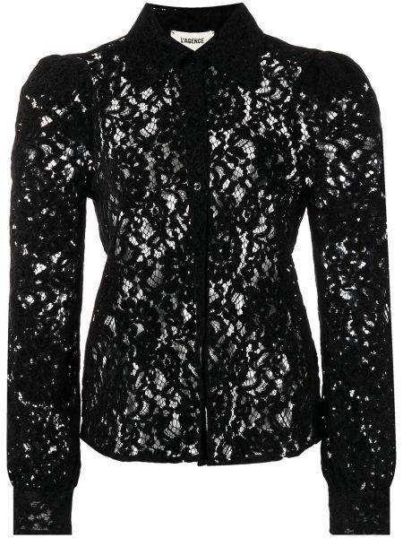 Рубашка с длинным рукавом - черная L'agence