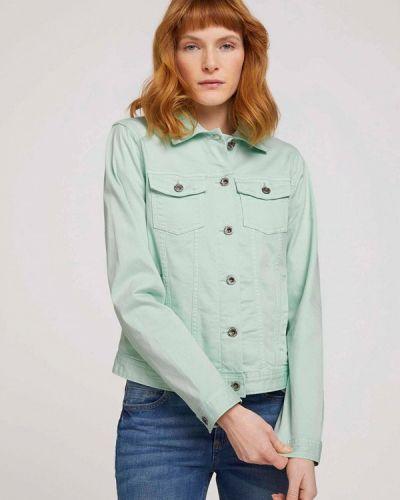 Бирюзовая джинсовая куртка Tom Tailor