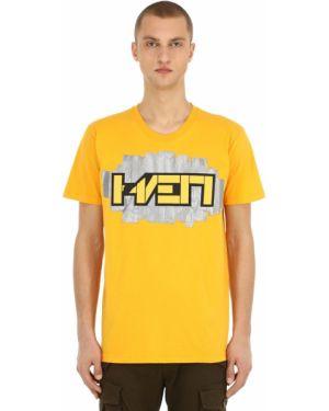 Żółty t-shirt bawełniany Haervaerk