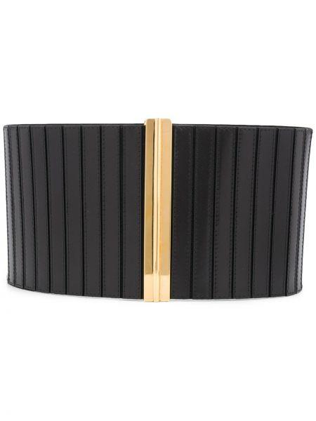 Кожаный черный широкий ремень свободного кроя с поясом Marni