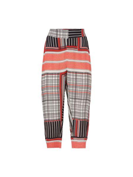Spodnie w paski na co dzień z wiskozy Masai