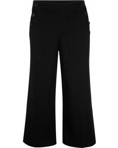 Свободные брюки черные Bonprix