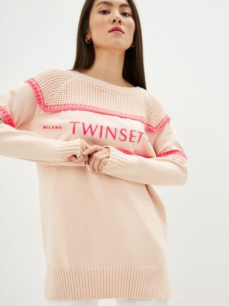 Свитер весенний розовый Twinset Milano