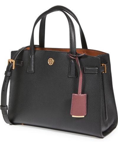 Черный кожаный ранец с карманами Tory Burch