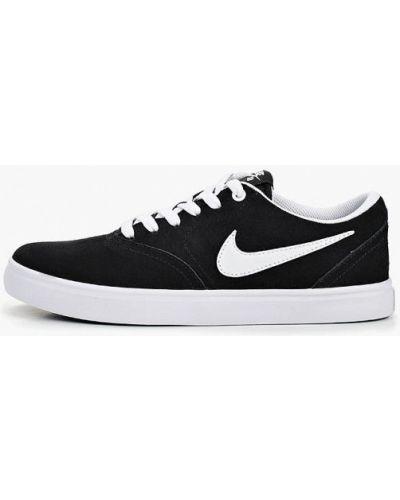 Черные кеды замшевые Nike