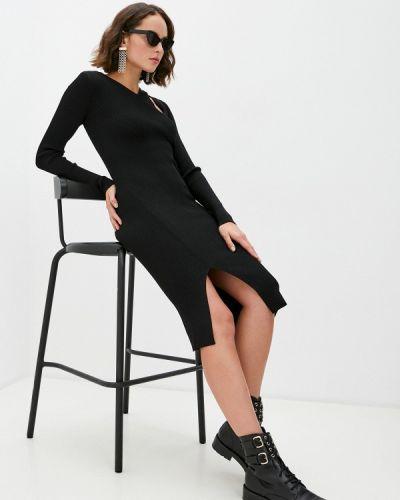 Повседневное черное повседневное платье Patrizia Pepe