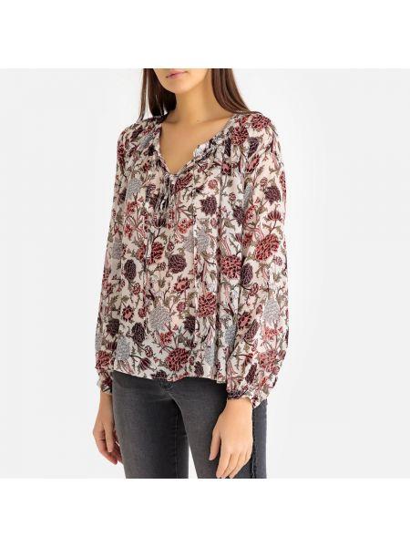 Блузка с длинным рукавом на пуговицах с манжетами с вырезом с рисунком Ikks