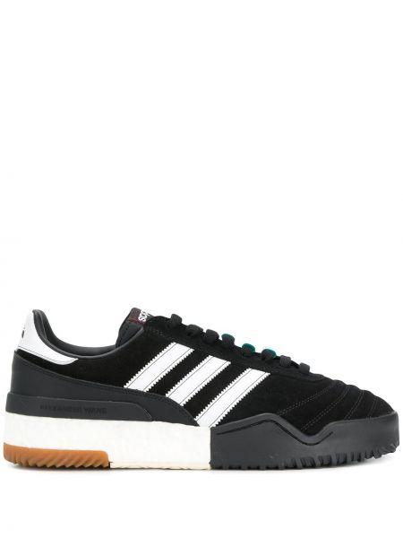 Замшевые кроссовки - черные Adidas Originals By Alexander Wang