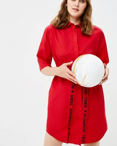 Красное платье осеннее Befree