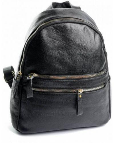 Кожаный рюкзак - черный Parse