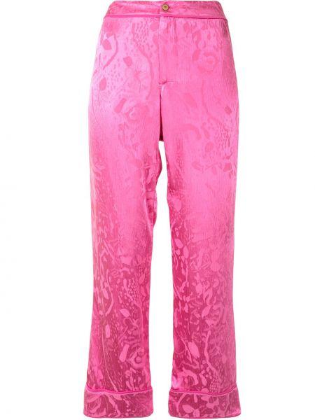 Розовые свободные брюки свободного кроя с высокой посадкой на молнии Alexis