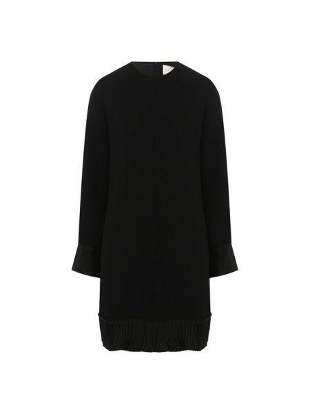 Платье плиссированное черное Victoria, Victoria Beckham