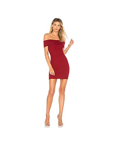 Платье мини шелковое с открытыми плечами By The Way.
