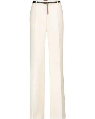 Шерстяные белые деловые брюки для офиса Altuzarra