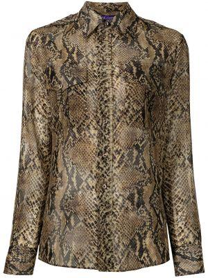 Czarna koszula z jedwabiu Ralph Lauren Collection