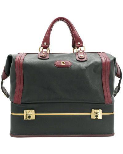 Кожаная сумка круглая черная Pierre Cardin Pre-owned