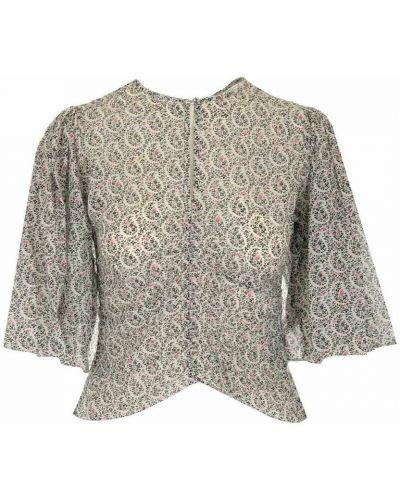 T-shirt - beżowa Isabel Marant Etoile