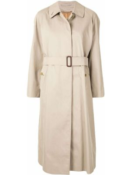 Długi płaszcz klasyczny z kołnierzem Burberry Pre-owned